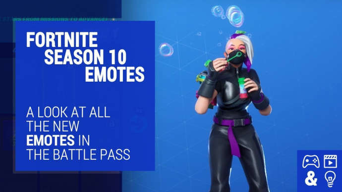 Fortnite Season X Battle Pass Emotes