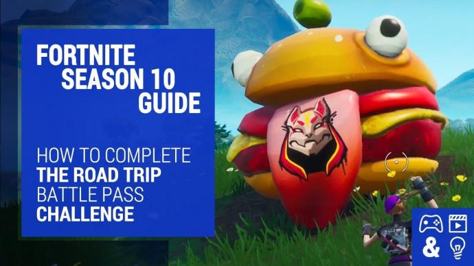 Fortnite Season Road Trip Challenge Guide Durr Burger Dinosaur Stone Head Statue Locations
